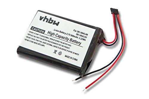 vhbw batería Compatible con Garmin Edge 010-01626-02, 200, 205, 500, 520, Explore 820 (600mAh, 3,7V, Li-Ion)