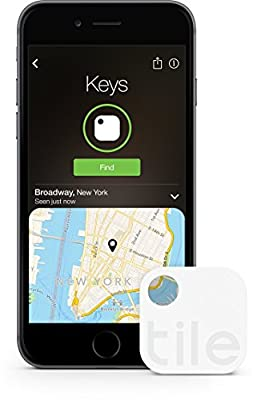 Tile (Gen 2) - Key Finder. Phone Finder. Anything Finder - 1 Pack (Discontinued by Manufacturer) from Tile Inc