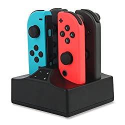 Perfessionally Designed: YCCSKY Nintendo Switch Joy-Cons Charging Holder is a professional design to perfect fit your Nintendo Switch Joy-Cons. Charge up to 4 Joy-Con Controllers simultaneously(No include Joycons) Simple & Convinient: Very Easy and C...