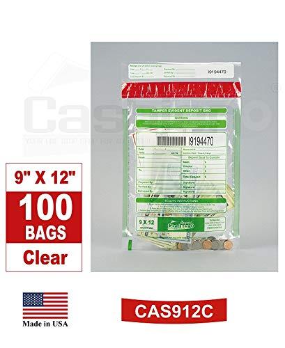 Cashier Depot Tamper Evident Deposit Bags, 9