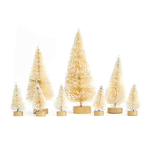 Miniature White  Vintage Christmas Tree Tabletop Decorations