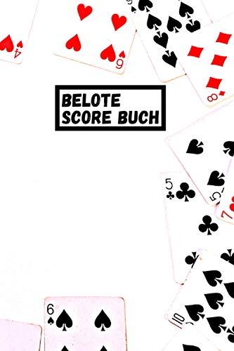 Belote score Buch: Belote Punktzahl | Belote Notizbuch