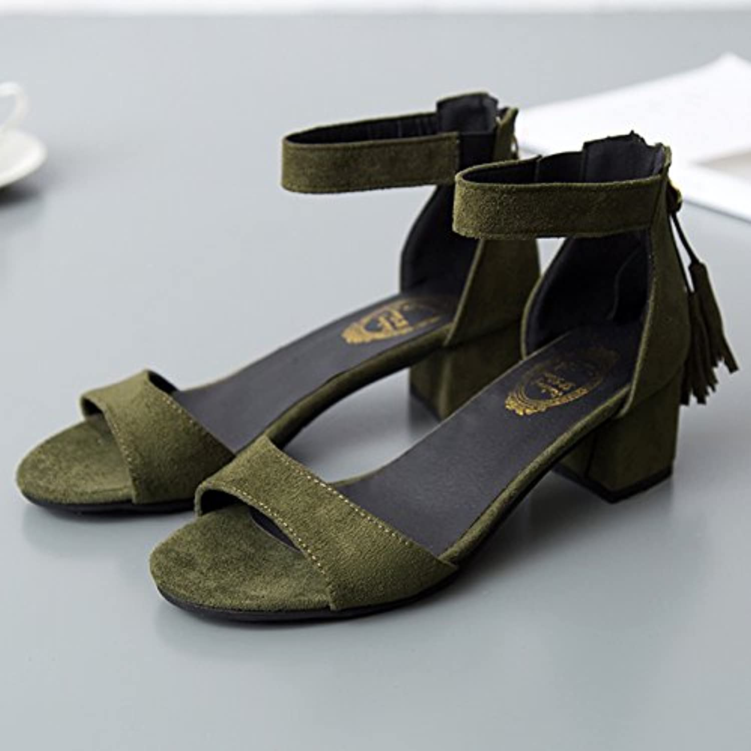 GAOLIM Thick With High-Heeled Sandals Women Flat shoes With A Female-Su Students shoes And Versatile Women'S shoes