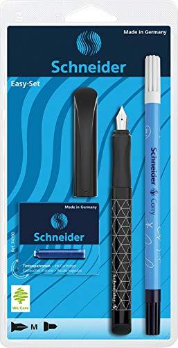 Schneider Schreibgeräte Schreibgeräteset Easy-Set, 1Xfüllhalter Easy, 6 TP Blau, 1Xcorry, sortiert 74390