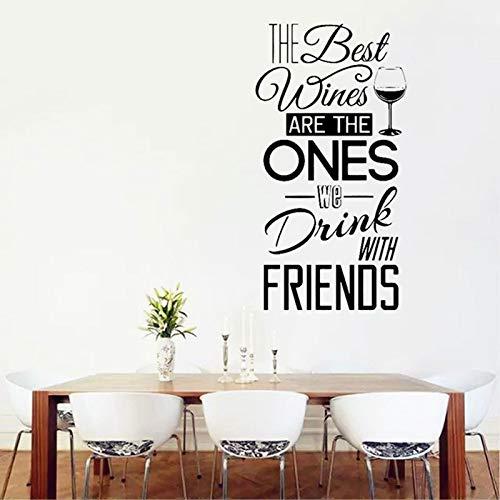 Dongwall Persönlichkeit Slogan und Freunde teilen Wein Wand Applique Weingut Restaurant Vinyl Dekoration Wandaufkleber 42 * 80cm