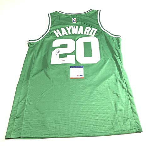 Gordon Hayward signed jersey PSA/DNA Boston Celtics Autographed Green - Autographed NBA Jerseys