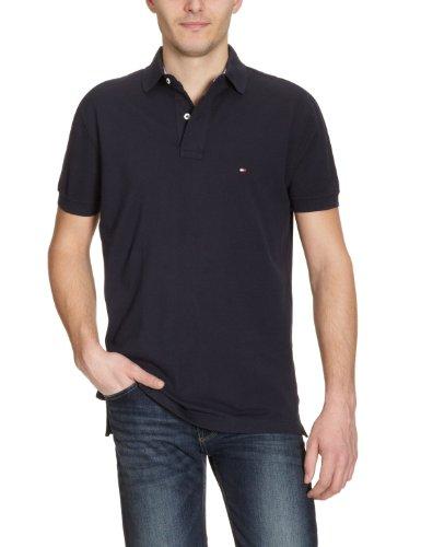 Tommy Hilfiger Herren Poloshirt, Gr. M, Blau (Midnight 403)