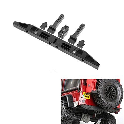 ZuoLan 1/10 Échelle Acier pare-chocs arrière avec 2pcs rouge treuil schackel 2 LED lumière pour Traxxas Trx4 T4 RC Crawler Modèle voiture