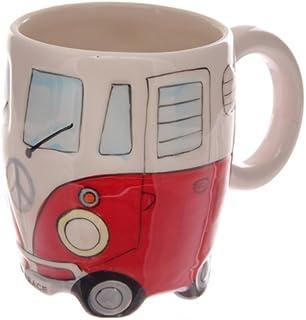 Volkswagen - Red Ceramic Shaped Coffee Mug/Cup (VW Camper Van) by Giftbrit