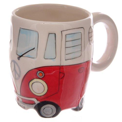 Giftbrit Kaffeetasse / -tasse aus Keramik mit VW-Bus