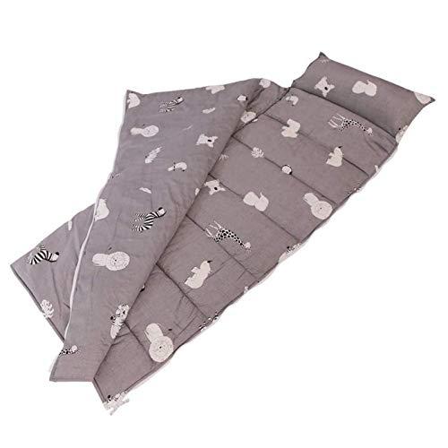 H.B.YE Sac de Couchage Coton+Velours Impression Oreille Nid d'Ange pour Enfant bébé en Bas âge Sieste Maternelle préscolaire Tapis (Animal, 118 x 52 cm)