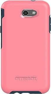 OtterBox SYMMETRY SERIES Case for Samsung Galaxy Express Prime 2/Amp Prime 2/Sol 2/J3 Emerge/J3 Prime/J3 Luna Pro; Samsung Galaxy J7 V/Samsung Galaxy J7 (2017)/Samsung Galaxy J7 Perx - Retail Packaging - SALTWATER TAFFY (PIPELINE PINK/BLAZER BLUE)