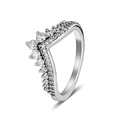Gflyme 2021 Otoño princesa Deseo anillo para las mujeres 925 plata DIY se adapta a pulseras originales Pandora encanto joyería de moda (58 #)