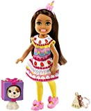 Barbie Club Chelsea Dress-Up Doll (6-Inch Brunette) in Cake Costume with Pet and Accessories, for 3 to 7 Year Olds