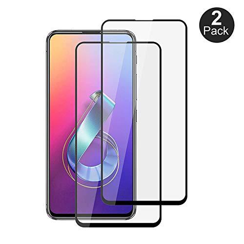 Filme de vidro temperado KZIOACSH para ASUS Zenfone 6 ZS630KL [Peças 2], 3D Cobertura total 9H Capa protetora de filme Compatível com ASUS Zenfone 6 ZS630KL.