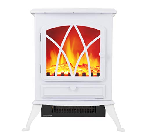 Warmlite WL46018W 2 KW Compact Electric Freestanding Stove Fire with...
