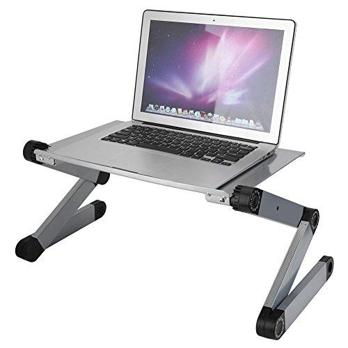 , Faltbarer Laptop Ständer, 360° Tragbarer Aluminium Computer PC Laptop Kühlung Tisch Ständer Bett Sofa Laptop...
