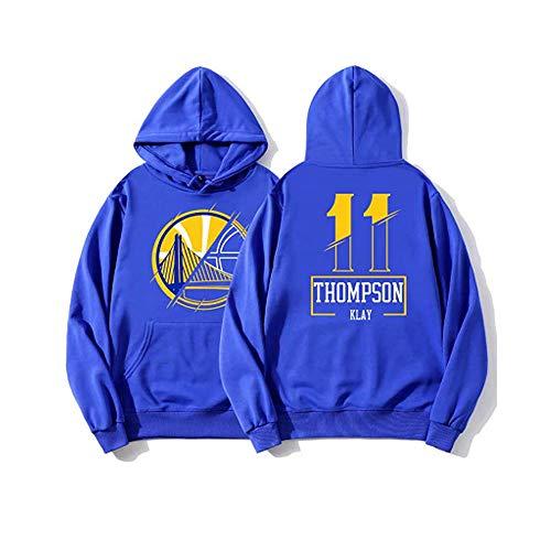 Golden State Warriors Thompson #11 - Sudadera con capucha para hombre y mujer, diseño de uniforme de baloncesto con capucha y manga larga, color azul, XXXL