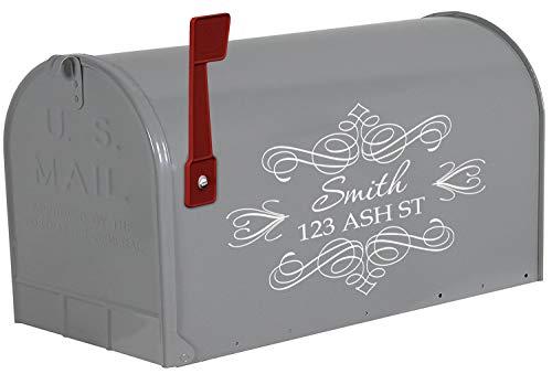 VWAQ Custom Mailbox Address Decal Personalized Mailbox Lettering Vinyl Sticker - TTC5 (White)