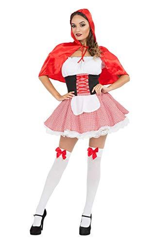 ORION COSTUMES Costume Cappuccetto Rosso Sexy Carnevale - Donna