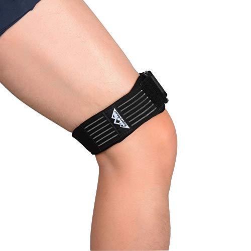 SupreGear Patella Kniebandage, ITB Bandage für Knie, Verstellbar Knee Strap Support, Bequem, Iliotibial, Atmungsaktiv, ITB-Kniebandage mit Zusätzlicher Kompression für Ilotibiales Band-Syndrom