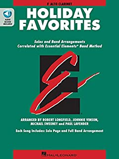 Essential Elements Holiday Favorites: Eb Alto Clarinet Book with Online Audio