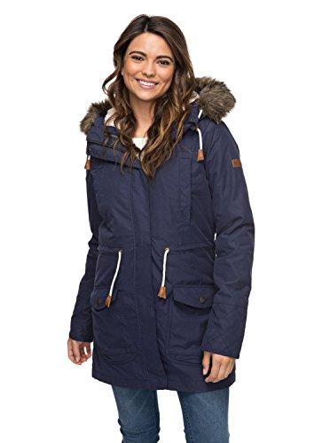 Roxy Damen 3N1 JK Amy-Waterproof Parka Jacket, Blau (peacoat), XL