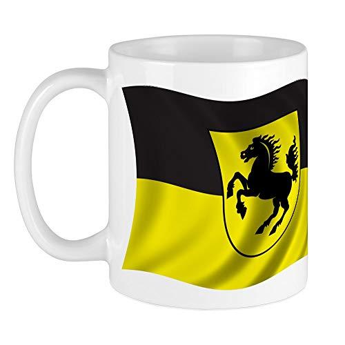 CafePress - Wavy Stuttgart Flagge Tasse - Einzigartige Kaffeetasse, Kaffeetasse, Teetasse