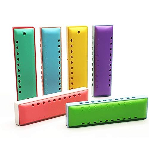 XIAONINGMENGDIAN Kinderharmonika zum Spielen von Musikinstrumenten, Spielzeug, einreihige umweltfreundliche 10-Loch-Materialien Mundharmonika, Orff-Musiklehrmittel, Folk-Instrumente ( Color : A6 )
