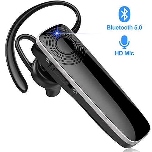 New Bee Bluetooth Headset Handy Ultraleichte kabellose In Ear Bluetooth Headset mit Stereo-Sound Freisprecheinrichtung für iPhone, iPad, Samsung, Huawei (Schwarz)