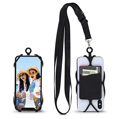 Phone Lanyard, Gear Beast Universal Crossbody Cell Phone Lanyard Compatible with iPhone, Galaxy & Most Smartphones, Includes Silicone Phone Holder and Satin Poly Adjustable Neck Strap