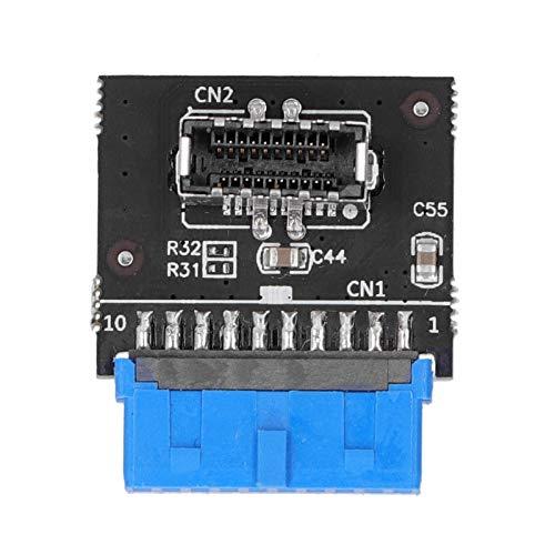Gedourain USB 3.0 a Placa Base Tipo E, USB 3.0 a encabezado Tipo E Profesional portátil Placa Base