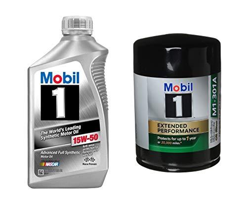 Mobil 1 15W-50 Full Synthetic Motor Oil, 1-Quart,...