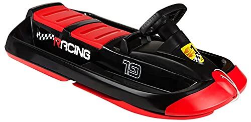 Slitta da neve a due posti, 109 cm, SNO Racing, colore: nero/rosso