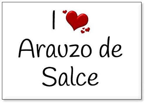 Mundus Souvenirs - Amo Arauzo de Salce, Imán para Nevera (diseño 3)