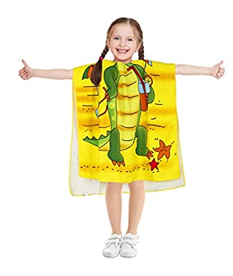 Suluia Kids Beach Swim Bath Towel Hooded for Girls and Toddlers Cartoon Cute Soft Cotton Microfiber Cover up