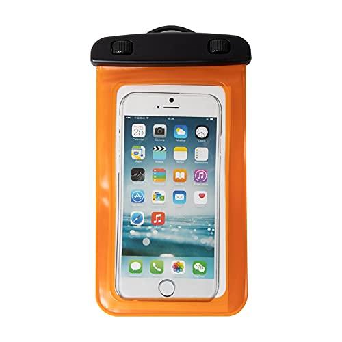 Mask.ok Funda funda impermeable IPX8 correr pesca viaje barco playa documentos dinero llaves para móvil smartphone 5.5' naranja
