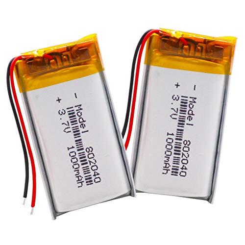 RFGTYH Baterías Recargables de Litio de polímero de Iones de Litio 802040 de 3,7 v, batería de Repuesto de 1000 mAh de polímero de Litio de Lipo Protegido con Carga PCB
