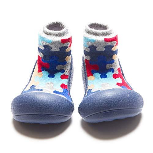 Attipas-Zapatos Primeros Pasos- Puzzle (21,5, Azul)