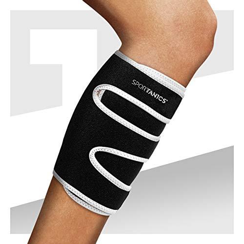sportanics® Wadenbandage mit Klettverschluss für Damen und Herren - Bandage, Waden-Kompressionsstrümpfe, Calf Sleeves, Leistungssteigerung, Sport, Running, Laufen & Krämpfen
