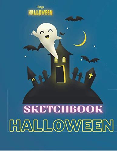 sketchbook halloween: Carnet de notes fantôme : Carnet de notes ligné avec un couverture de fantôme de bonbon / notebook fantôme/ (French Edition) ... inch / 120 page / Carnet de notes Halloween