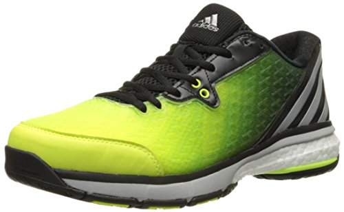adidas Performance Women's Energy Volley Boost 2.0 Shoe,Yellow/Silver/Black,7 M US