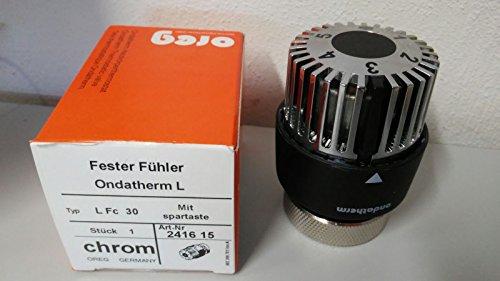 Ondatherm Thermostatkopf LFc30 chrom/schwarz M38x1,5