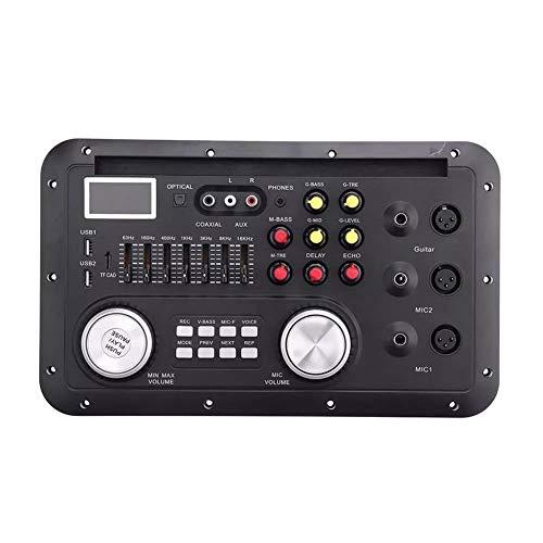 Nuofake DSP estéreo Bluetooth función MP3 Decodificador Tablero Karaoke Preamp Mixer EQ Home Theater Ecualizador coaxial de Fibra sin pérdida for Amplificador de Audio Dapter