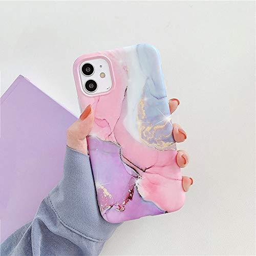 AAA&LIU para iPhone 11 12 Pro MAX X XS MAX XR Patrón de Piedra de mármol Colorido Cubierta Trasera de TPU Suave para iPhone 12 Mini 7 8 Plus, b, para iPhone 11Pro MAX
