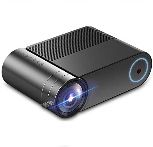 LAIDUOAO Video Projector, 1080P Projector 4.3 'LCD Light Projector with 180'' Display Area, 4000...