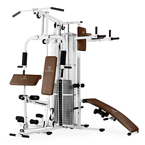 Klarfit Ultimate Gym 5000 White Edition - Máquina de Gimnasio, Estación...