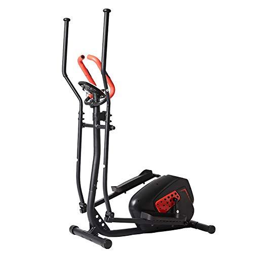 LWLEI Bicicleta Elíptica la Aptitud del Ejercicio Cardio Pérdida de Peso del Entrenamiento de la máquina con el Asiento y la frecuencia del Pulso del corazón Sensores (Color : Negro)