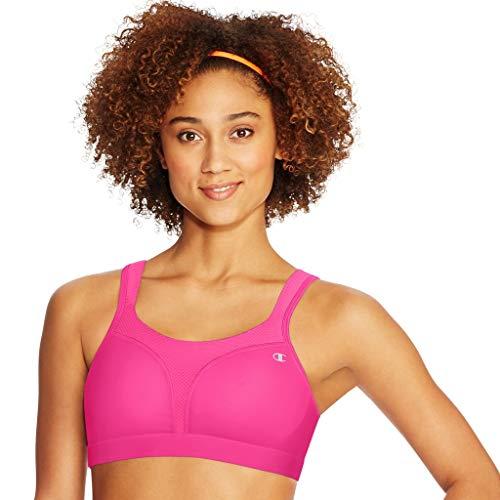 Champion Women's Sport Comfort Full Support Sports Bra, PINKSICLE, 40DD