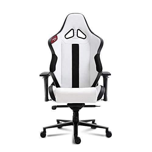 Jiaduobao - Sedia da ufficio professionale da gioco, multifunzionale, per videogiochi, con braccioli 4D, colore: nero e bianco